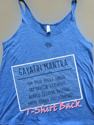 Blue Gayatri Mantra Tank
