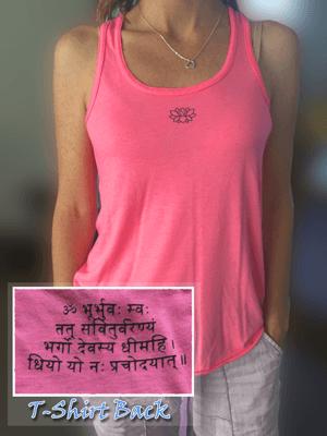 Pink Gayatri Mantra Tank