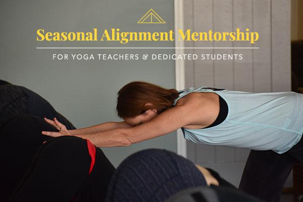 seasonal alignment mentorship program: for yoga teachers and dedicated students